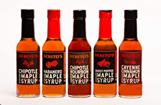 Benito's Chile Pepper Infused Vermont Maple Syrup Five 5 oz bottles