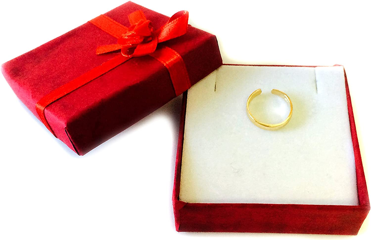 14K Yellow Gold Shiny Cuff Style Adjustable Toe Ring 3mm