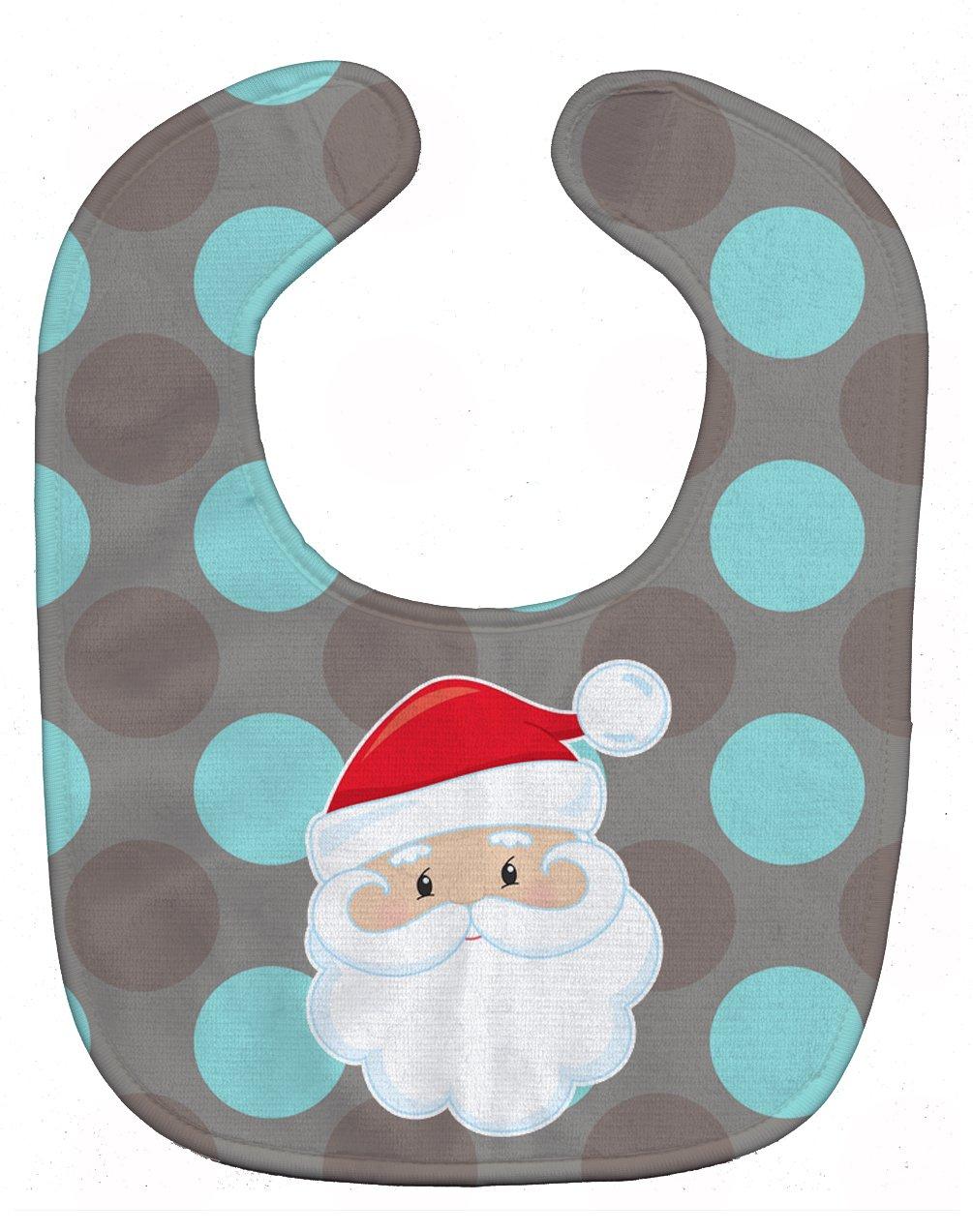 Caroline's Treasures BB8672BIB Bear on Polka Dots Baby Bib, 10 x 13