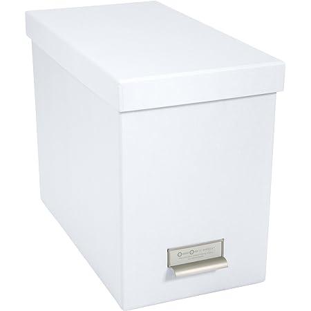 Bigso Box of Sweden 944145544 Porte INCL. 8 dossiers Suspendus, Panneau de Fibre, Blanc, 35 x 18,5 x 27 cm