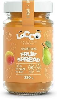 LOCCO - Mermelada de pera y albaricoque sin azúcar baja en calorías