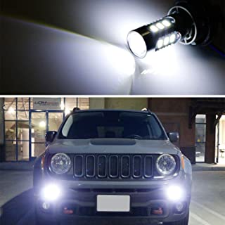 iJDMTOY (2) 6500K White LED Daytime Running Light Bulbs For 2015-2018 Jeep Renegade