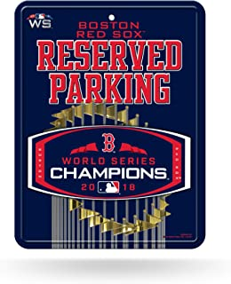 Rico Tag Express Boston Red Sox 2018 World Series Champions Metal Reserved Parking Sign