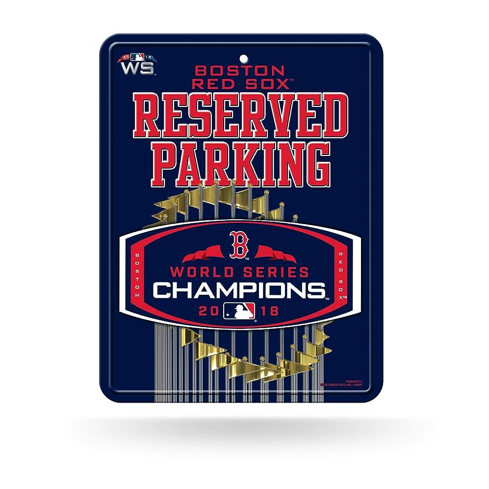 内部大腿激しいRico Tag Express Boston Red Sox 2018 World Series Champions Metal Reserved Parking Sign