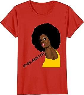 Womens Melanin Afro Black Women T-shirt