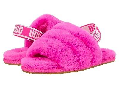 UGG Kids Fluff Yeah Slide (Toddler/Little Kid) (Rock Rose) Girls Shoes