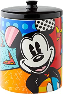 Enesco 6004975 Disney by Britto Mickey Mouse Cookie Jar Canister, 9.5 Inch, Multicolor