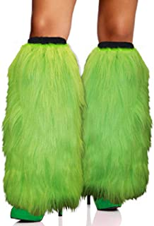 Fuzzy Faux Fur Leg Warmers Fur Heels Long Boots Cuff Cover has Elasticity One Pair