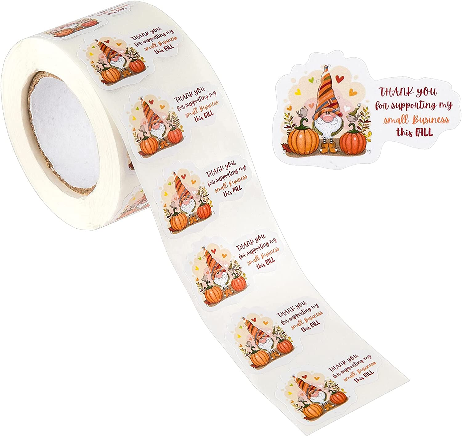 Thank You for Supporting My Small Business This Fall, Thank You Stickers Labels Happy Mail Shipping Stickers for Fall Thanksgiving Envelopes, Mailers, Gift Bags, Boxes, Packaging