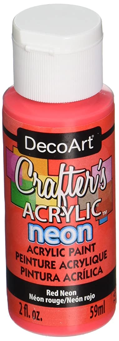 DecoArt Acrylic Crafter's Paint - Neon Red - 2 oz kkdb112400082126