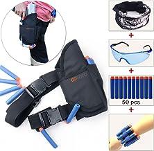 COSORO Kids táctica bolsa de cintura cinturón Kit (con 50pcs Azul Espuma Dardos + gafas protectoras+Máscara+2pcs recambio dardos muñeca cinturón) para pistola de juguete de Nerf N-strike Elite serie
