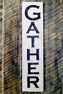 Vertical Gather Sign 40