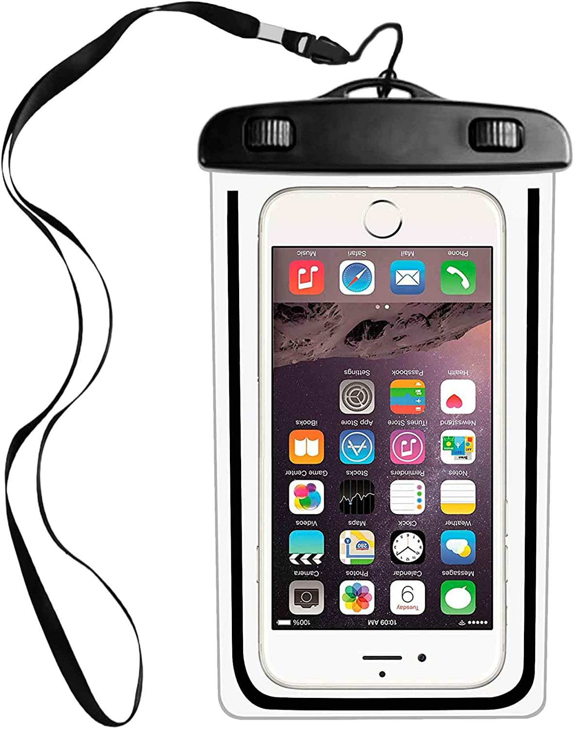Waterproof Phone Pouch, IPX8 Cellphone Dry Case Bag Compatible with iPhone 11 PRO MAX Xs,XR,XS MAX,X 8,7,6s Plus,SE,Galaxy S9,S8+,s7 Edge LG,Diagonal to 6.3