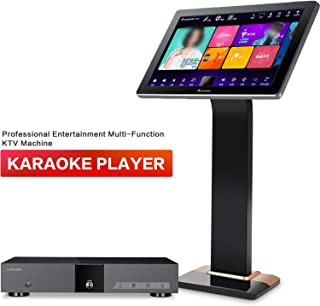 Karaoke Player, Karaoke Machine, InAndOn New Gen Split Type Professional Entertainment Multi Function KTV Machine with 22 inch 4K Touch Screen 6T HDD Free Infinite Cloud Download AI Function Black