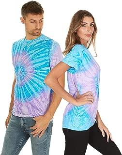 Tie Dye Style T-Shirts Men Women - Fun, Multi Color Tops