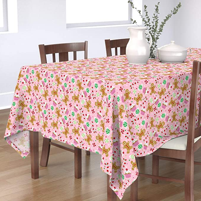 Waiting For A Fairy Tale by sandra/_bereg Gingerbread House Round Tablecloth Cookies  Pine Cotton Sateen Circle Tablecloth by Spoonflower
