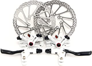 Yorbay Disco de Freno NV5 BD-09 160mm para Bicicleta Blanco con Kit de Tornillos (Blanco)