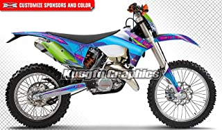 Kungfu Graphics Custom Decal Kit for 125 150 200 250 300 350 350 500 EXC EXC-F XCW XC-W XCFW XCF-W 2012 2013, Blue Purple Green