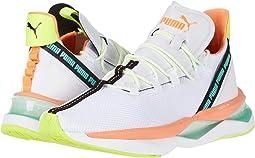 Puma White/Fizzy Orange/Green Glimmer