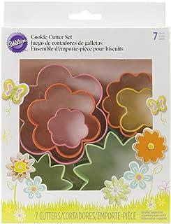 Wilton Colored Metal Garden Cookie Cutter Set, Multi-Colour, WT-2308-1541, Set of 7