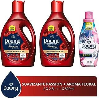 Downy Libre enjuague Suavizante de telas Passion 5.6 L + Floral 800 ml