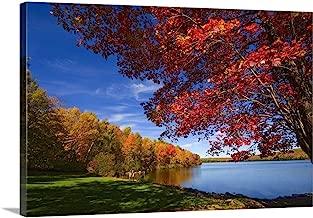 Maine, Lake George, New England, Skowhegan/Canaan Towns, Autumn at Lake George Canvas Wall Art