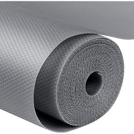 Labnoft EVA Anti Slip Mats and Liners for Drawer, Refrigerator, Cupboard, Shelf, Cabinet, Wardrobe, Fridge and Dining, 300x45 cm, Grey, Pack of 2
