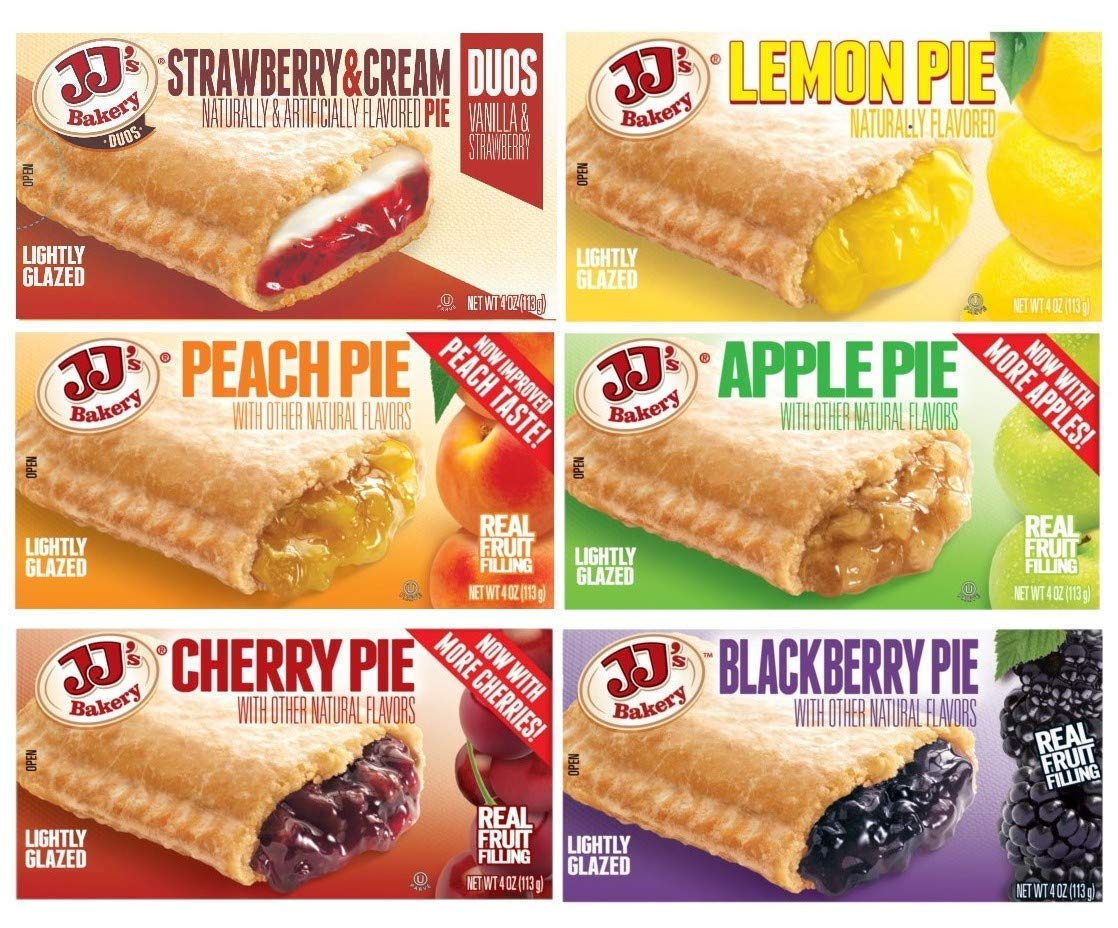 JJ's Bakery Fruit Pie Variety Pack | 6 Flavors | 6 Pack