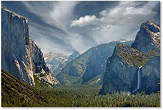 Tunnel View by Mike Jones Photo, 16x24-Inch Canvas Wall Art