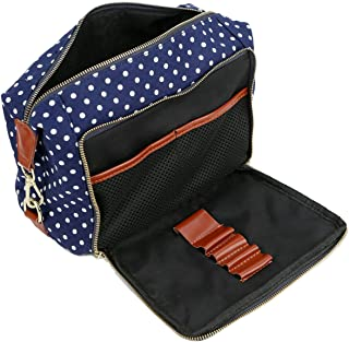 BAOSHA XS-04 Canvas Travel Toiletry Bag Shaving Dopp Case Kit for Women and ladies (Deep B)