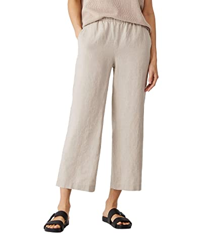 Eileen Fisher Organic Linen Ankle Length Pants (Unnatural) Women