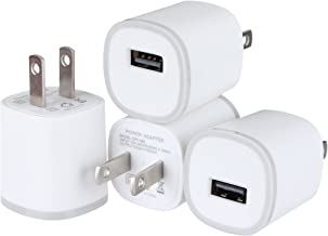 Spark Electronics 4PC 1 Port Rapid Speed [Matte White] Tapered Universal USB Power Adapter Wall Charger Compatible with Apple iPhone 7 7 Plus 6 6S Plus 5 s C Samsung Galaxy S7/S6 Edge Note Nokia