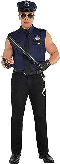 AMSCAN Adult Costume, Under Arrest Cop, Large (42-44)