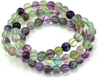 8mm Fluorite Gemstone Stretch Beaded Bracelet, Pack of 3