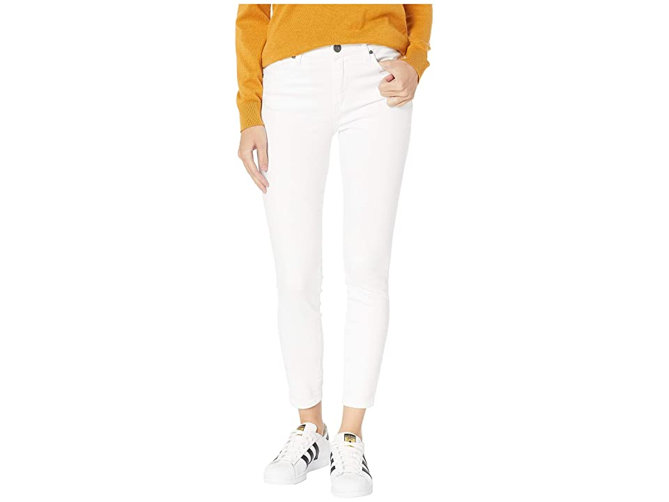 KUT from the Kloth Donna High-Rise Ankle Skinny Jeans in Optic White (Optic White) Women