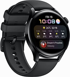HUAWEI WATCH 3-4G Smartwatch with 1.43'' AMOLED Display, 3 Days Battery Life, 24/7 SpO2 and Heart Rate Monitoring, Built-i...
