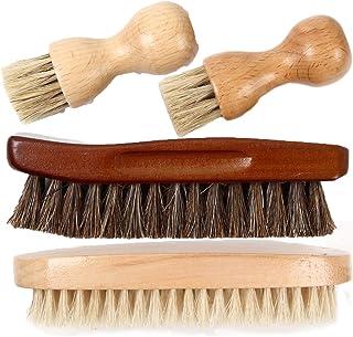 [FOOTSTEPS] 靴磨き ブラシ セット 馬毛ブラシ 豚毛ブラシ ペネトレイトブラシ セット 収納麻袋付