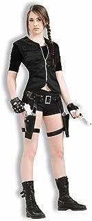 Lara CROFT TOMB RAIDER Costume 90 S Costume Guanti E DOPPIA PISTOLA Fondina Set