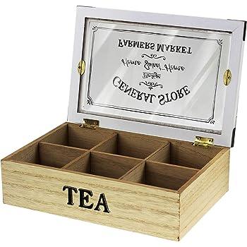 Home Sweet Home - Caja de madera para té, diseño vintage: Amazon.es: Bricolaje y herramientas