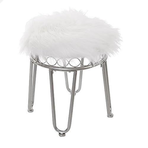 Surprising Fur Vanity Stools Amazon Com Machost Co Dining Chair Design Ideas Machostcouk