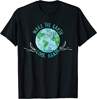 Make the Earth Cool Again - Watercolor Environmental T-Shirt