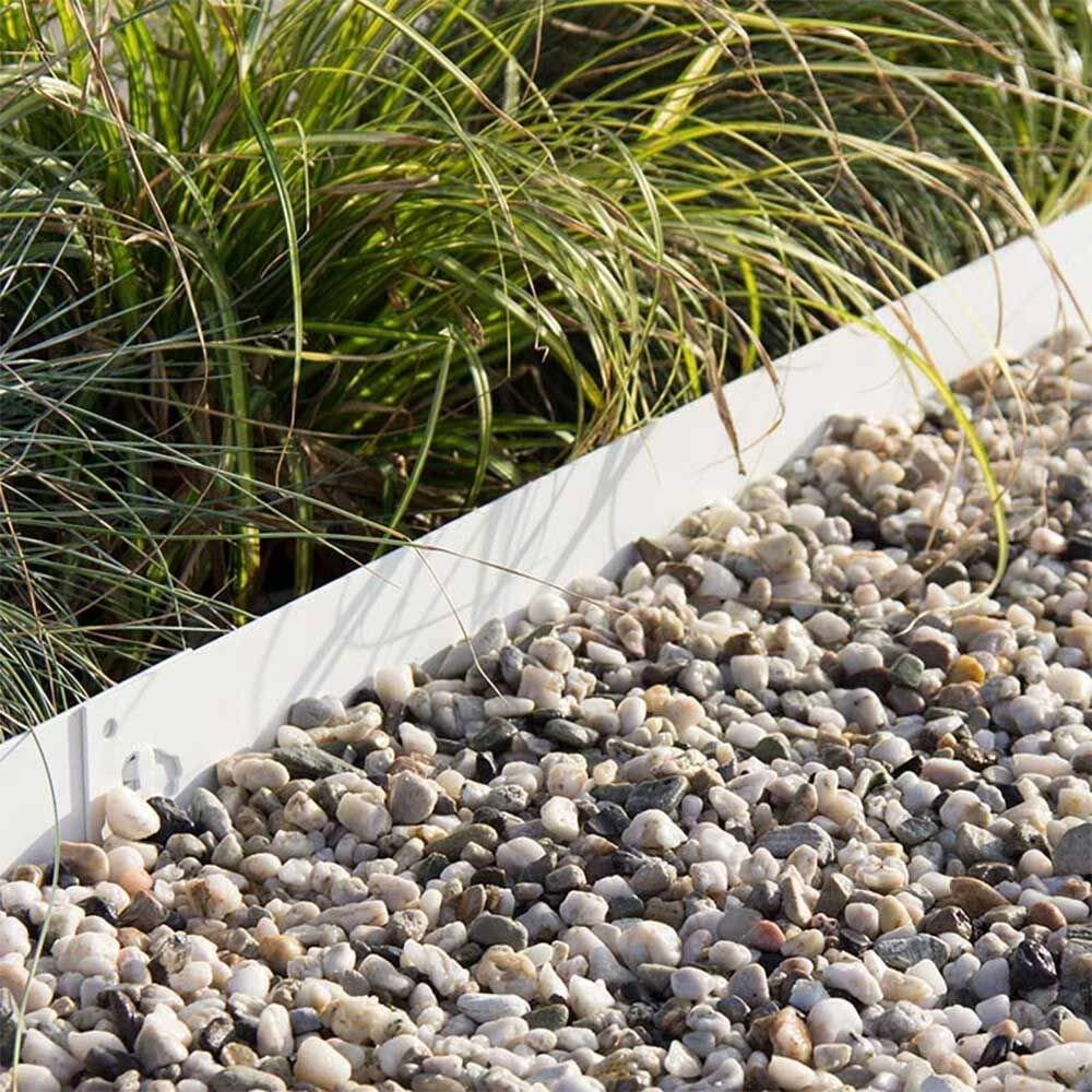 Multi-Edge Bordura metálica Acero Lacado Blanco - Bordes/separadores para el jardín de Acero Lacado Blanco, 100 x 17,5 cm. A Partir de 5 Unidades. (19 Unidades): Amazon.es: Jardín