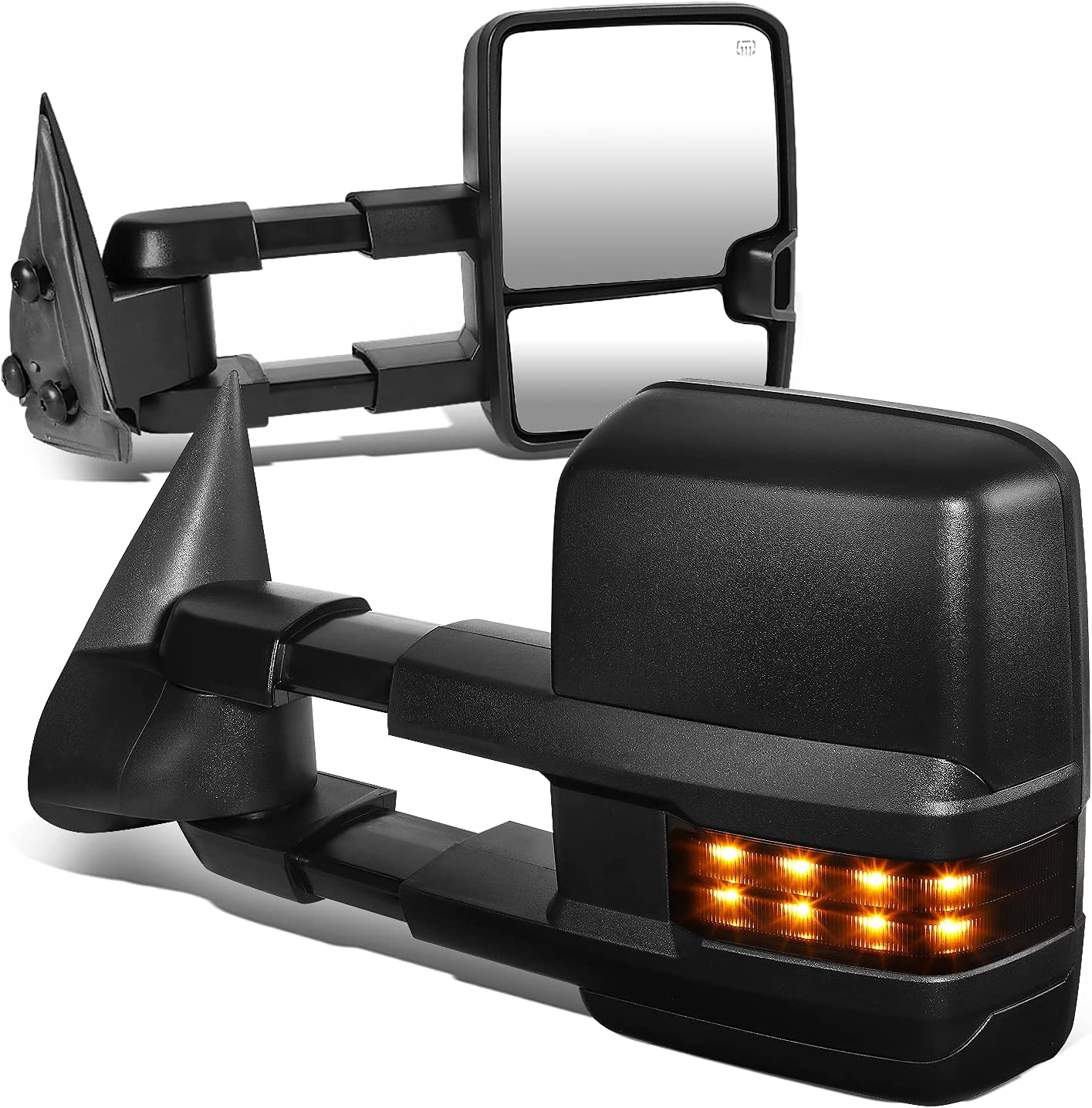 DNA Motoring TWM-015-T888-BK-SM Pair Towing W Max 59% OFF Mirrors 25% OFF Compatible