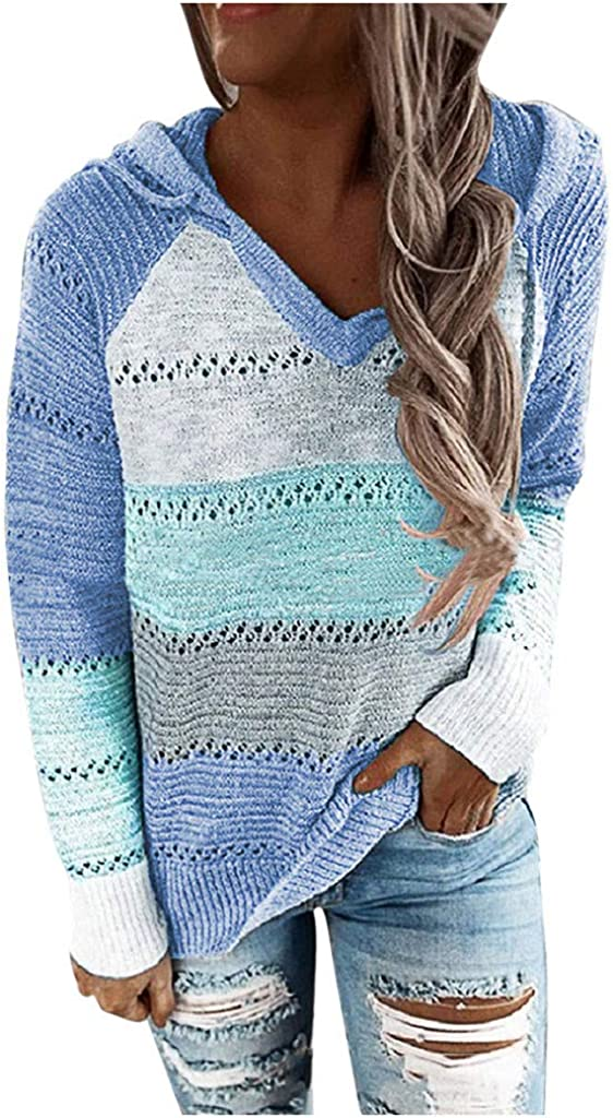 Sweaters For Women Kirbyates Womens Long Sleeve Cute Hoodies Pullover Casual Lightweight Knitted Sweater Tops