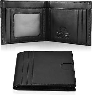 VBIGER Portafoglio Uomo Pelle RFID Blocking Wallet con Tasca Portamonete &10 Slots per Schede & Custodia per Carte Indipen...