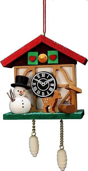 Alexander Taron Importer 10 0565 Christian Ulbricht Ornament Cuckoo Clock Snowman 4 5 H X 2 5 W X 1 5 D Brown