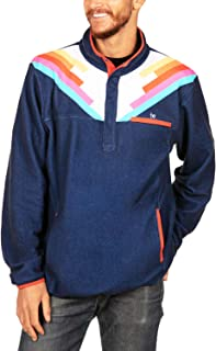 Tipsy Elves Bright and Colorful Men's Ski Fleece 1/4 Zip Pullover Outerwear from