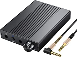 Proster USB DAC DSD64 Headphone Amplifier Support Impedance 16-500Ω 3.5mm Portable Amp 192kHz/24bit Rechargeble HiFi Earphone Amplifier with Gain Switch for iPhone iPod MP3 MP4 Digital Player Computer