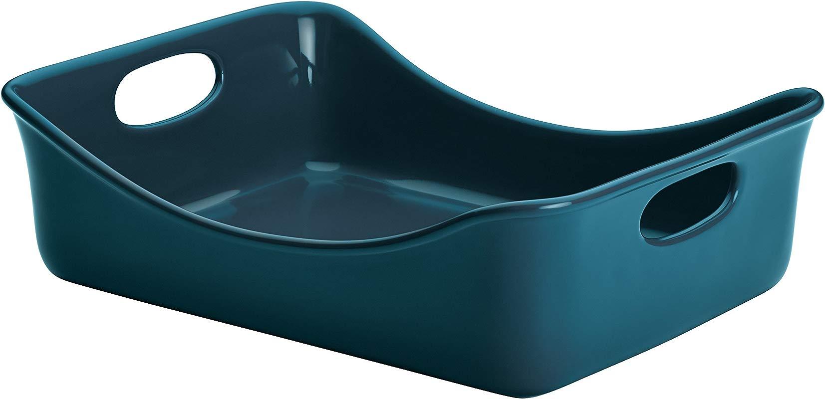 Rachael Ray Stoneware Baker 9 X 12 Marine Blue