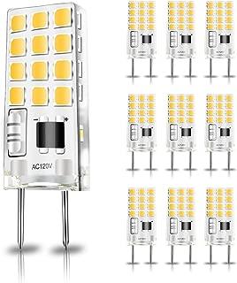 RAYHOO G8 LED Light Bulbs Dimmable 3.5W Equivalent to G8 Bi-pin Halogen Bulb 30W 110-130V 300 Lumens, for Light Fitting, Under Counter Kitchen Lighting (Warm White 3000K 10 Pack)
